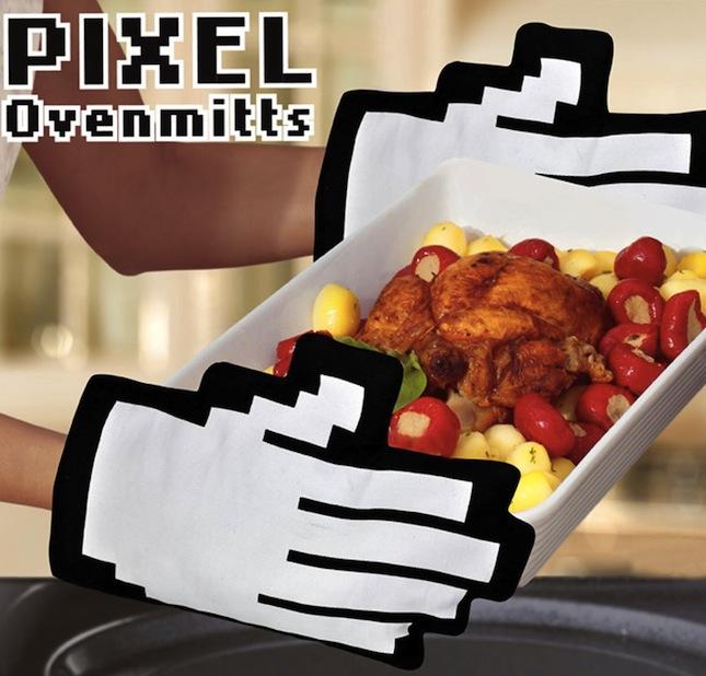 pixel oven mitt