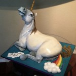 Unicorn Farting a Rainbow Cake